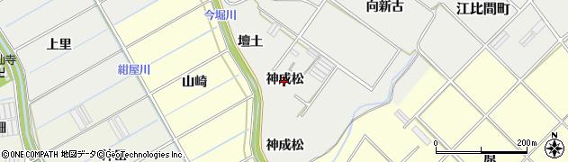 愛知県田原市江比間町(神成松)周辺の地図