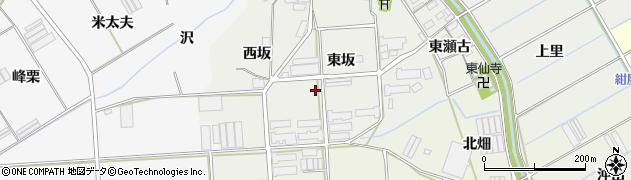 愛知県田原市馬伏町(東坂)周辺の地図