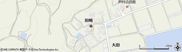 愛知県田原市芦町(田嶋)周辺の地図