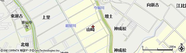 愛知県田原市八王子町(山崎)周辺の地図
