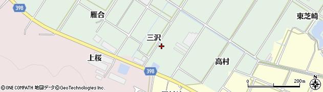 愛知県田原市大久保町(三沢)周辺の地図