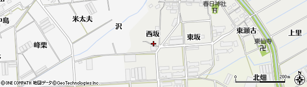 愛知県田原市馬伏町(西坂)周辺の地図