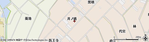 愛知県田原市福江町(井ノ構)周辺の地図