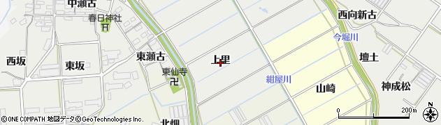愛知県田原市馬伏町(上里)周辺の地図
