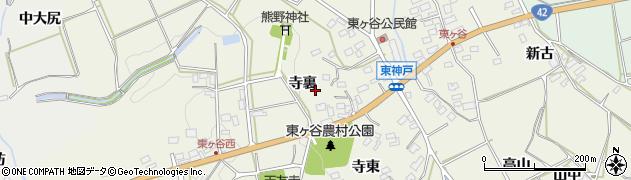 愛知県田原市東神戸町周辺の地図