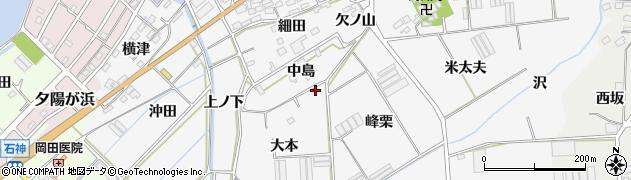愛知県田原市伊川津町(大本)周辺の地図