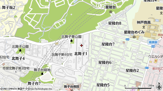 〒655-0045 兵庫県神戸市垂水区北舞子の地図