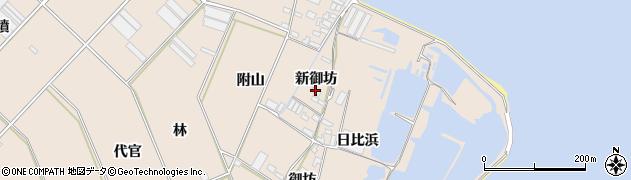 愛知県田原市福江町(新御坊)周辺の地図