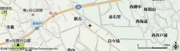 愛知県田原市東神戸町(百々境)周辺の地図