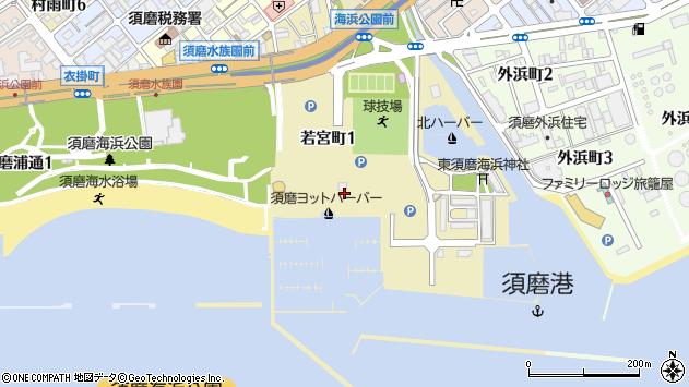 〒654-0049 兵庫県神戸市須磨区若宮町の地図