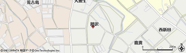 愛知県田原市南神戸町(踏訳)周辺の地図