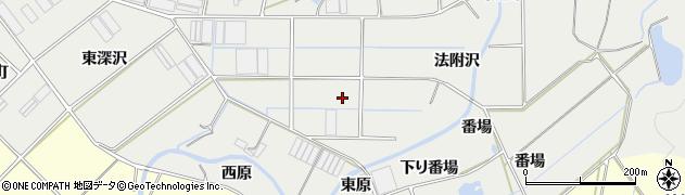 愛知県田原市江比間町(法附沢)周辺の地図
