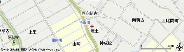 愛知県田原市江比間町(壇土)周辺の地図