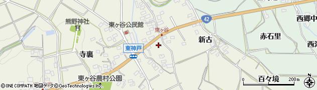 愛知県田原市東神戸町(御農)周辺の地図
