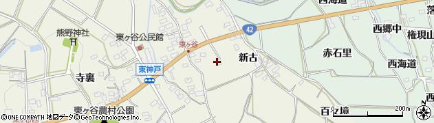 愛知県田原市東神戸町(高山)周辺の地図