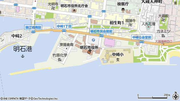 〒673-0000 兵庫県明石市(以下に掲載がない場合)の地図