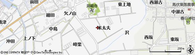 愛知県田原市伊川津町(米太夫)周辺の地図