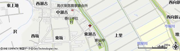愛知県田原市馬伏町(東瀬古)周辺の地図