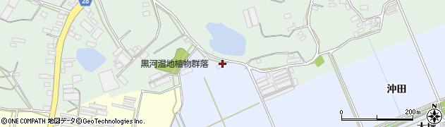 愛知県田原市大草町(沖田)周辺の地図