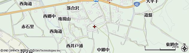 愛知県田原市六連町(中郷中)周辺の地図