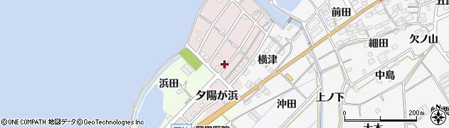 愛知県田原市夕陽が浜周辺の地図