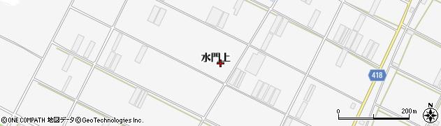 愛知県田原市小中山町(水門上)周辺の地図