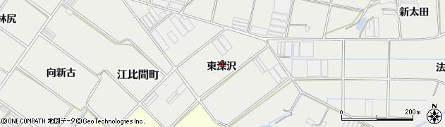 愛知県田原市江比間町(東深沢)周辺の地図