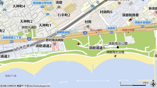 〒654-0055 兵庫県神戸市須磨区須磨浦通の地図