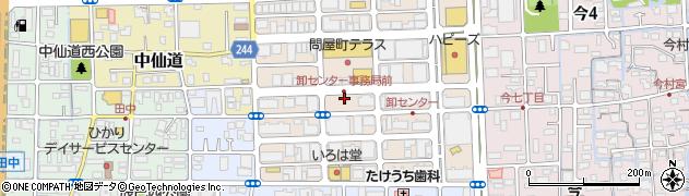 岡山県岡山市北区問屋町周辺の地図
