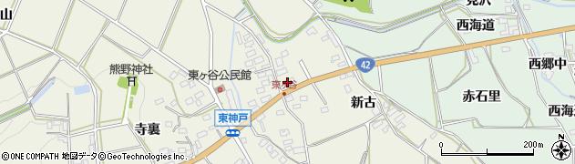 愛知県田原市東神戸町(杉林)周辺の地図