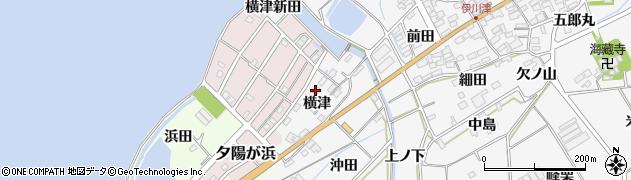 愛知県田原市伊川津町(横津)周辺の地図