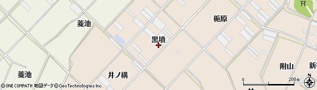 愛知県田原市福江町(黒墳)周辺の地図