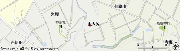 愛知県田原市南神戸町(中大尻)周辺の地図