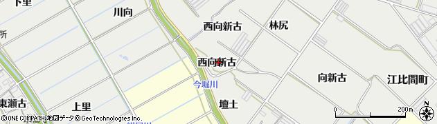 愛知県田原市江比間町(西向新古)周辺の地図