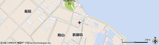 愛知県田原市福江町(附山)周辺の地図