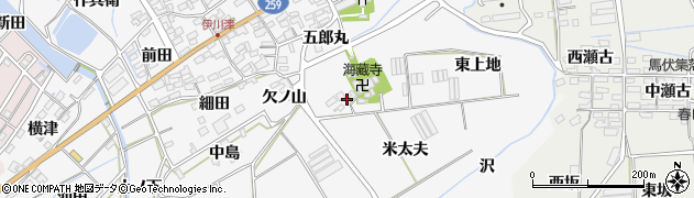 愛知県田原市伊川津町(上地)周辺の地図