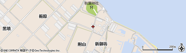 愛知県田原市福江町(梔原)周辺の地図