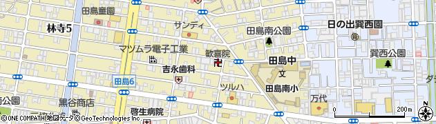 歓喜院周辺の地図