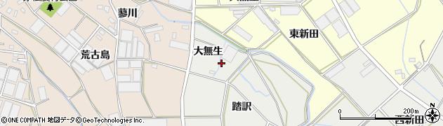 愛知県田原市南神戸町(大無生)周辺の地図