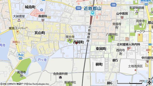 〒639-1014 奈良県大和郡山市西岡町の地図