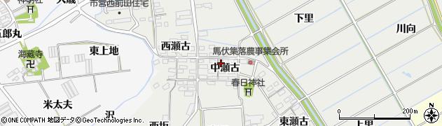 愛知県田原市馬伏町(中瀬古)周辺の地図