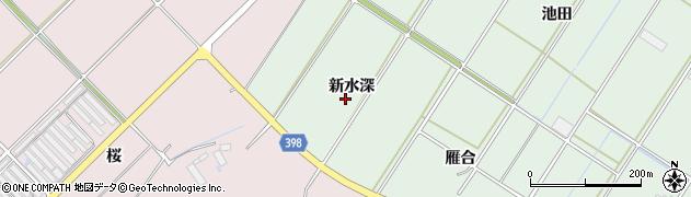 愛知県田原市大久保町(新水深)周辺の地図
