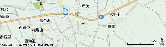 愛知県田原市六連町(六郎次)周辺の地図