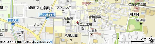 大阪府八尾市泉町周辺の地図