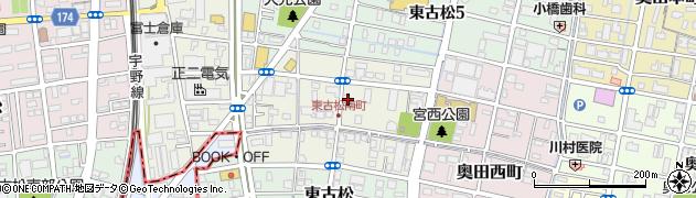岡山県岡山市北区東古松南町周辺の地図