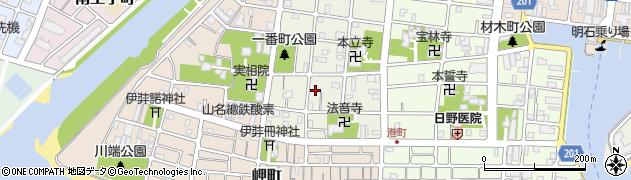 兵庫県明石市日富美町周辺の地図