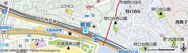 アルファクリーニング 朝霧店周辺の地図
