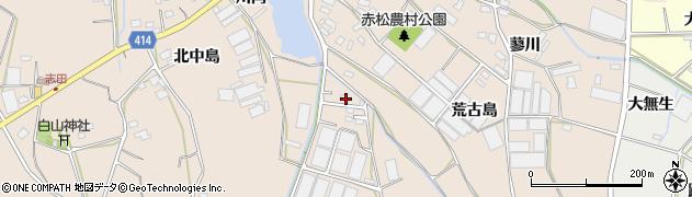 愛知県田原市西神戸町(堀山田)周辺の地図