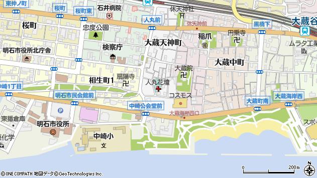 〒673-0875 兵庫県明石市大蔵天神町の地図