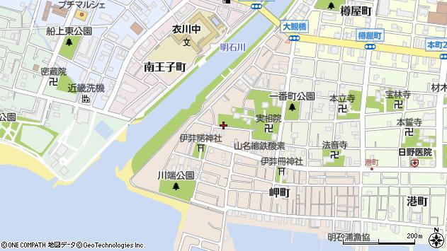 〒673-0897 兵庫県明石市大観町の地図